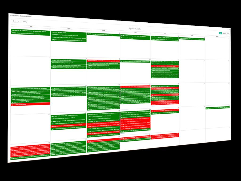 calendario Perspectiva